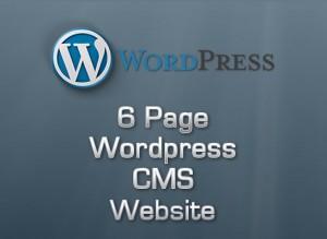 6 Page Wordpress CMS Website