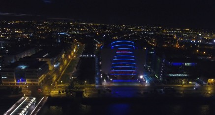 Dublin Liffey River & CCD Building Photo