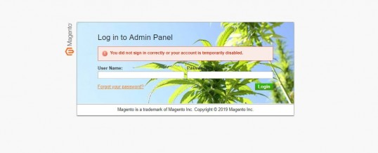 You did not sign in correctly or your account is temporarily disabled. – Magento 1.9.4.1